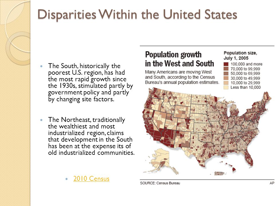 Disparities Within the United States
