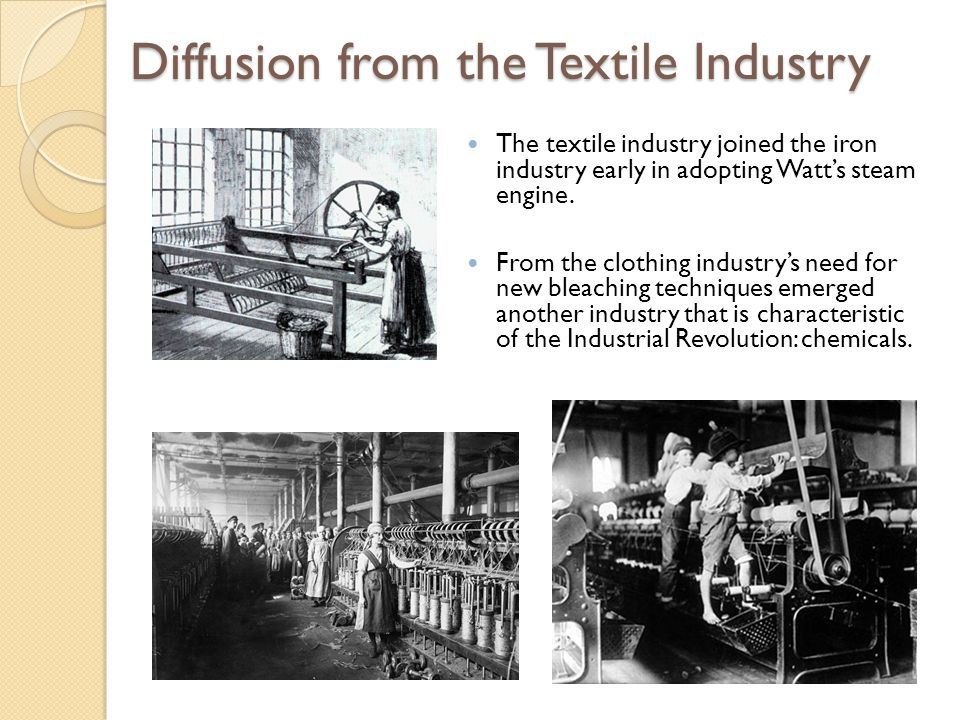 Diffusion from the Textile Industry