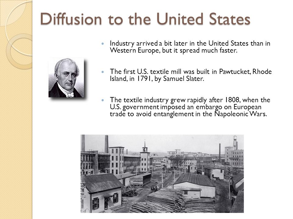 Diffusion to the United States