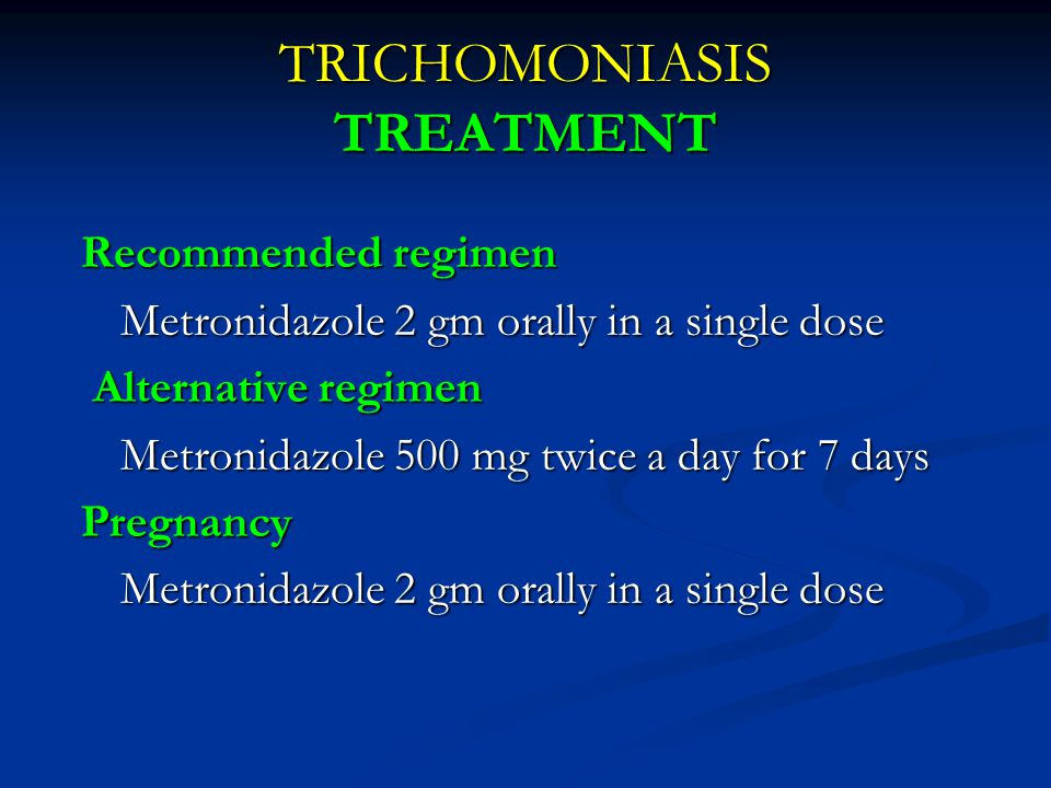 TRICHOMONIASIS TREATMENT