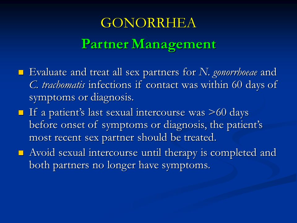GONORRHEA Partner Management