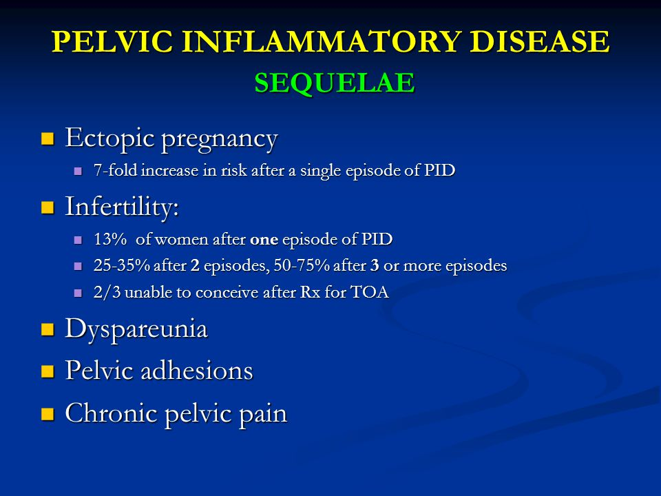 PELVIC INFLAMMATORY DISEASE SEQUELAE