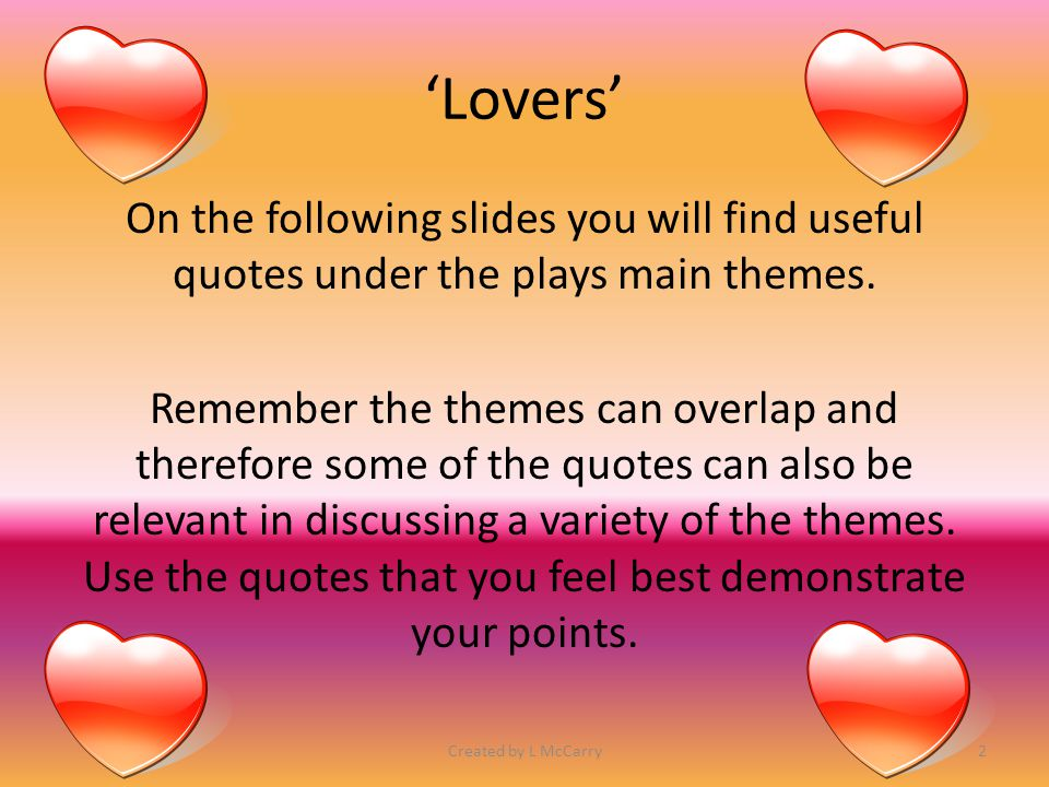 'Lovers'