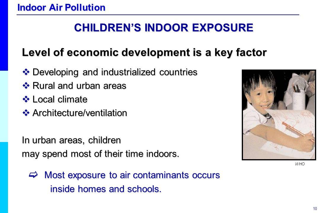 CHILDREN'S INDOOR EXPOSURE
