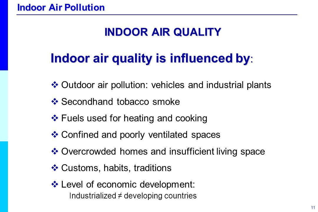 Indoor air quality is influenced by: