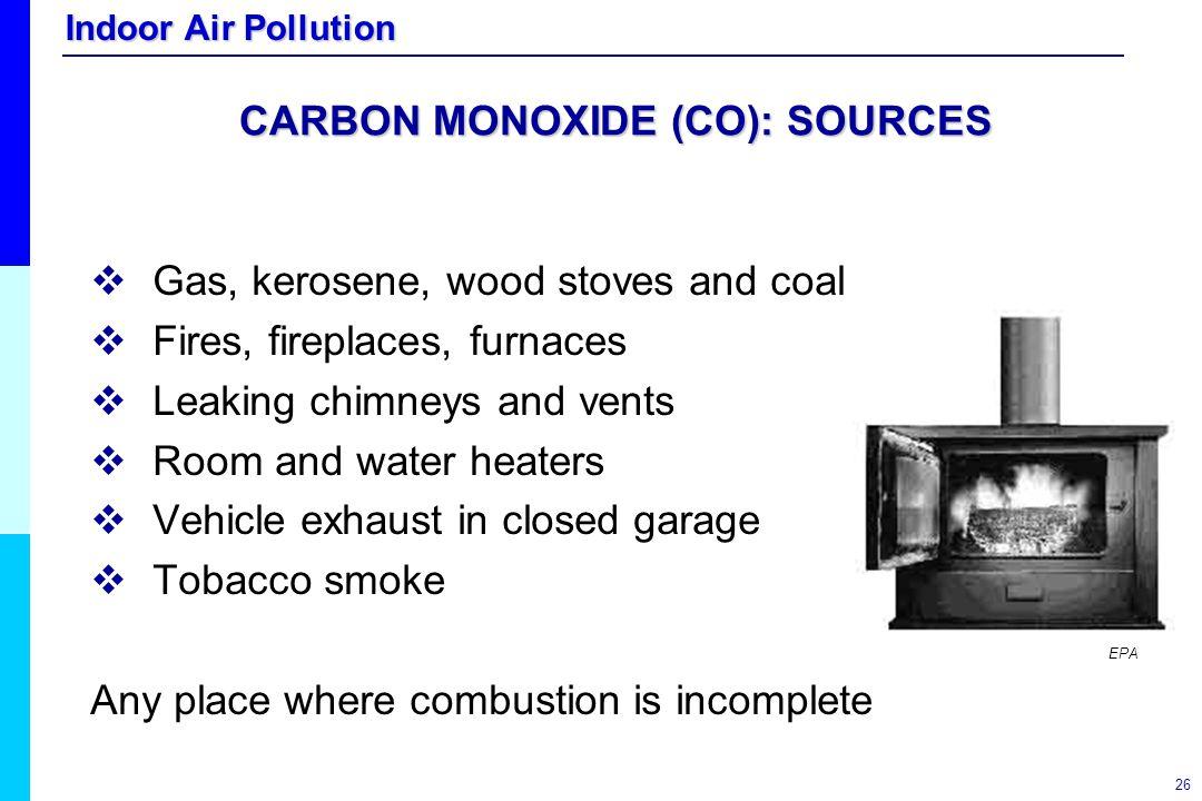 CARBON MONOXIDE (CO): SOURCES