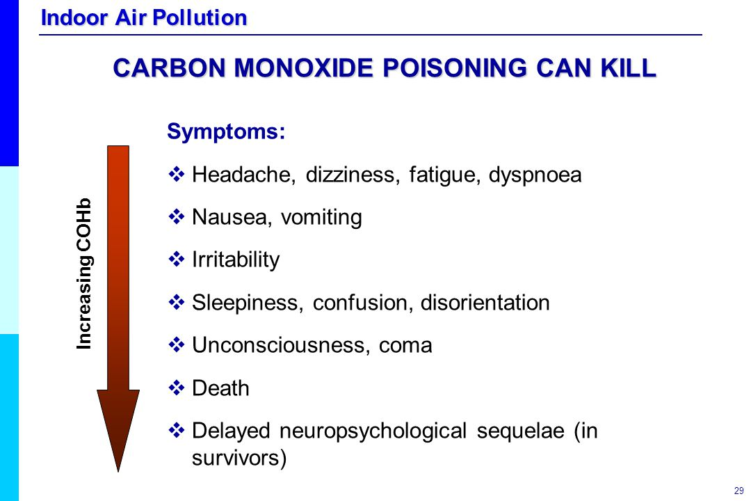 CARBON MONOXIDE POISONING CAN KILL