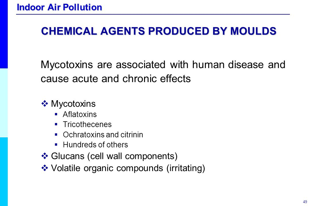 CHEMICAL AGENTS PRODUCED BY MOULDS