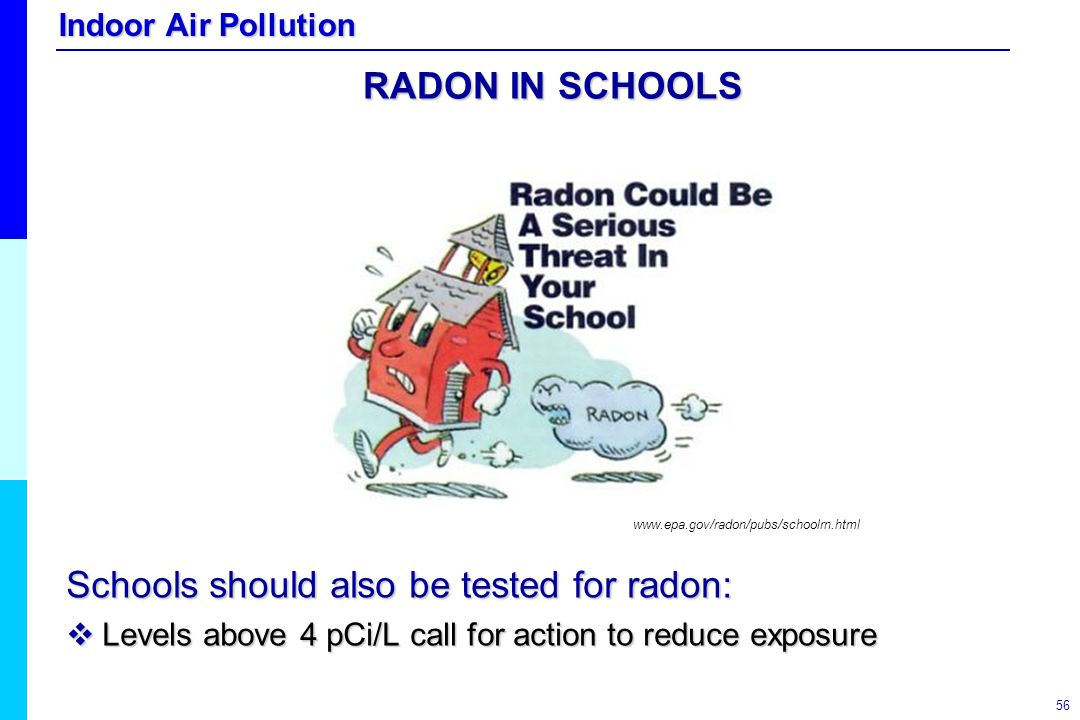 Schools should also be tested for radon: