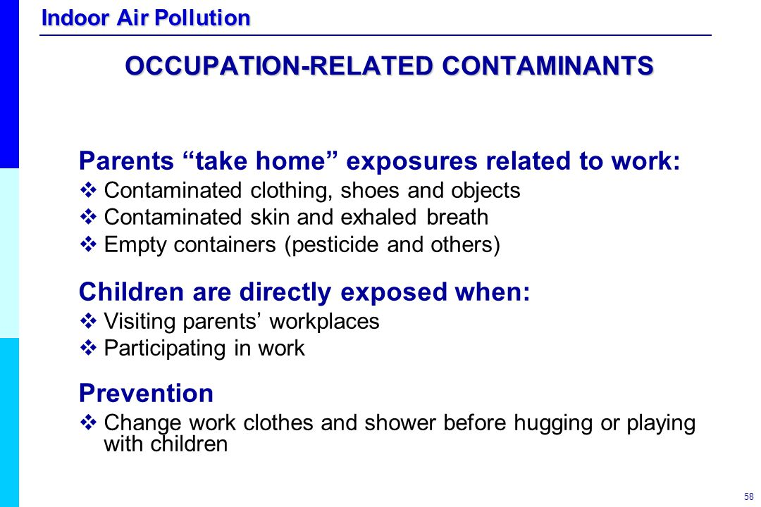 OCCUPATION-RELATED CONTAMINANTS