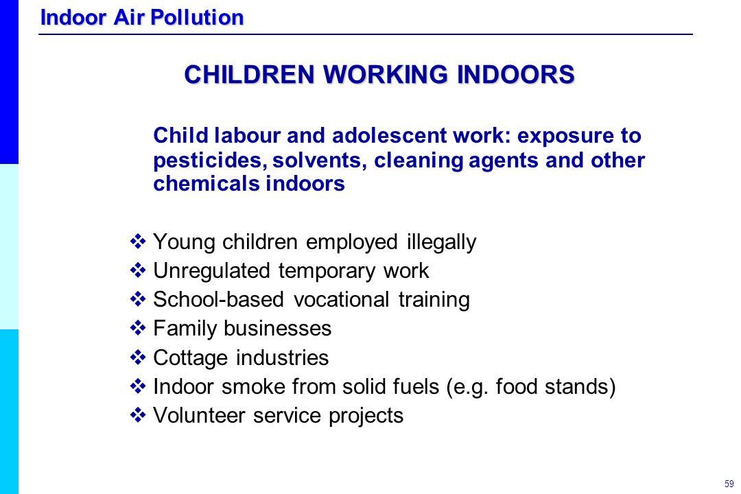 CHILDREN WORKING INDOORS