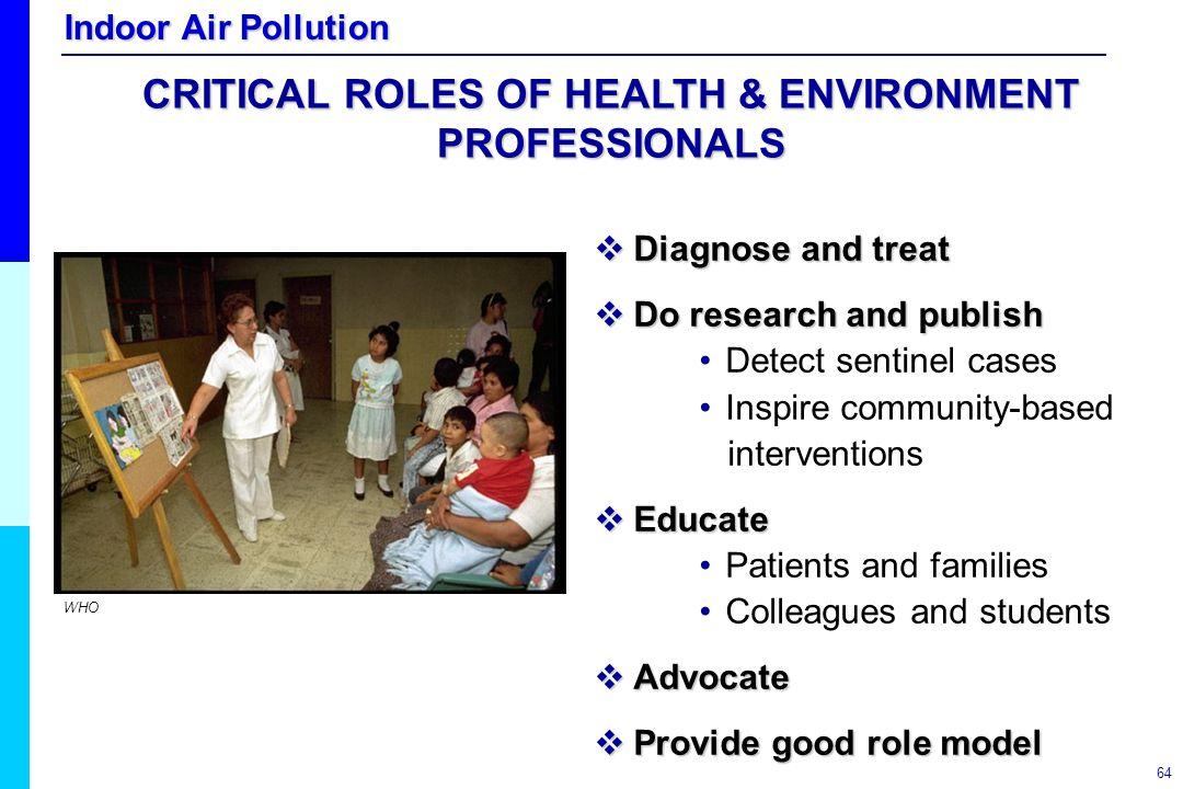 CRITICAL ROLES OF HEALTH & ENVIRONMENT PROFESSIONALS