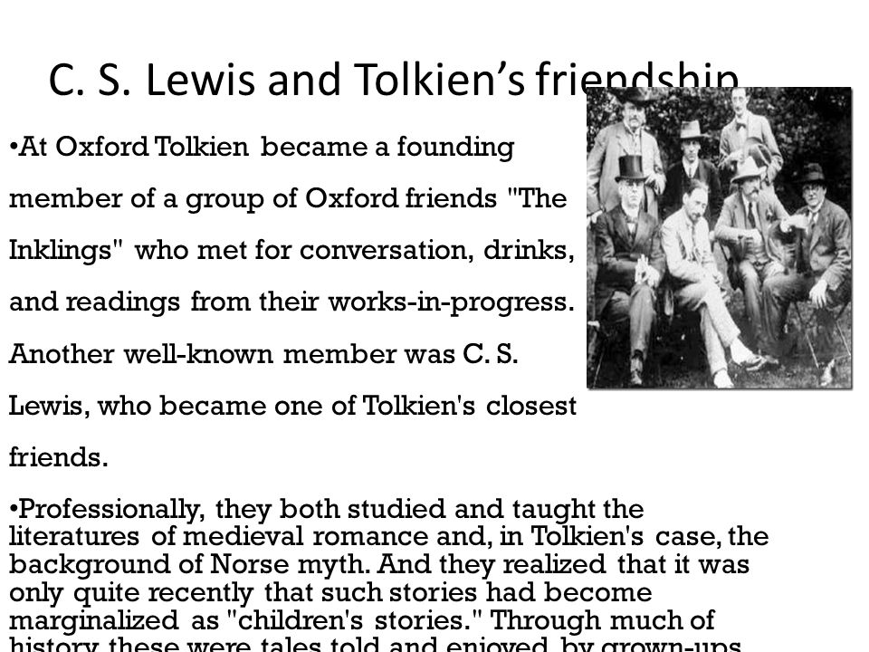 C. S. Lewis and Tolkien's friendship