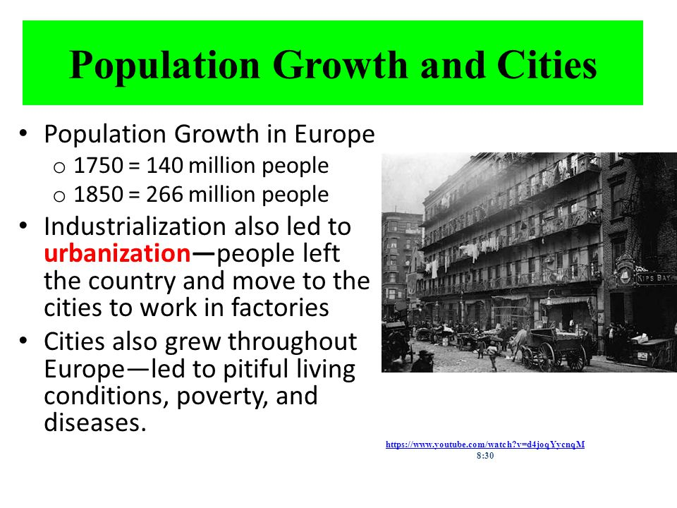 Population Growth and Cities
