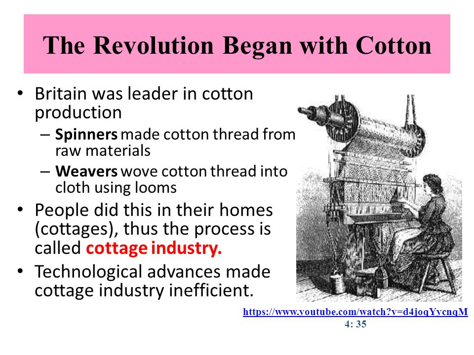 The Revolution Began with Cotton