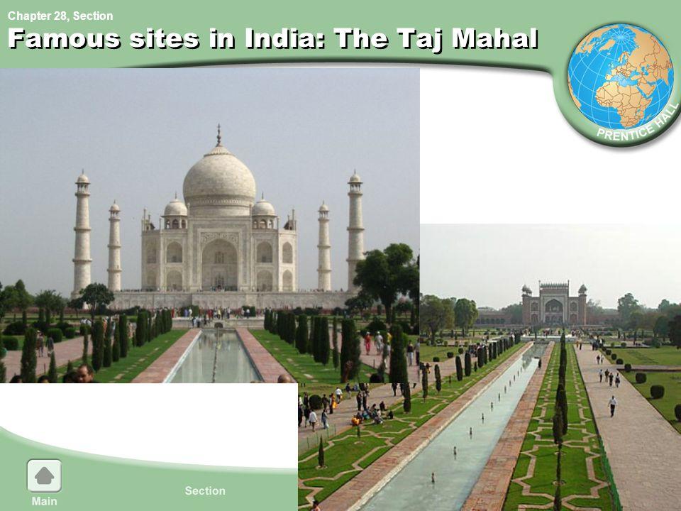 Famous sites in India: The Taj Mahal