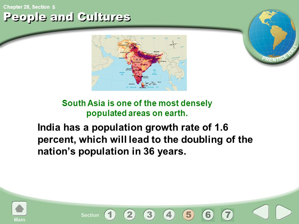 South Asia is one of the most densely populated areas on earth.