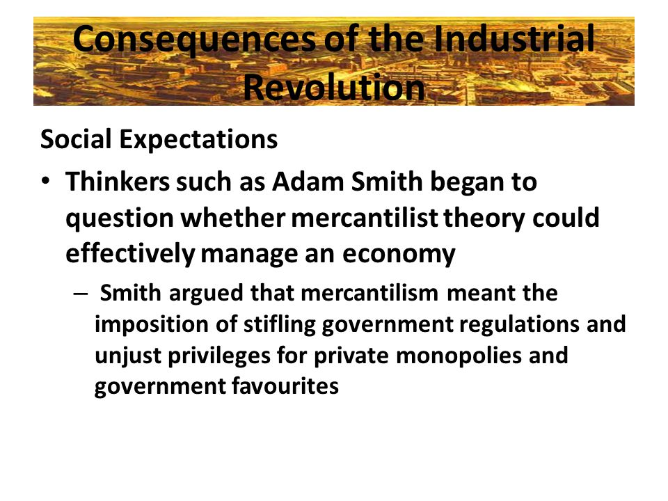 Consequences of the Industrial Revolution