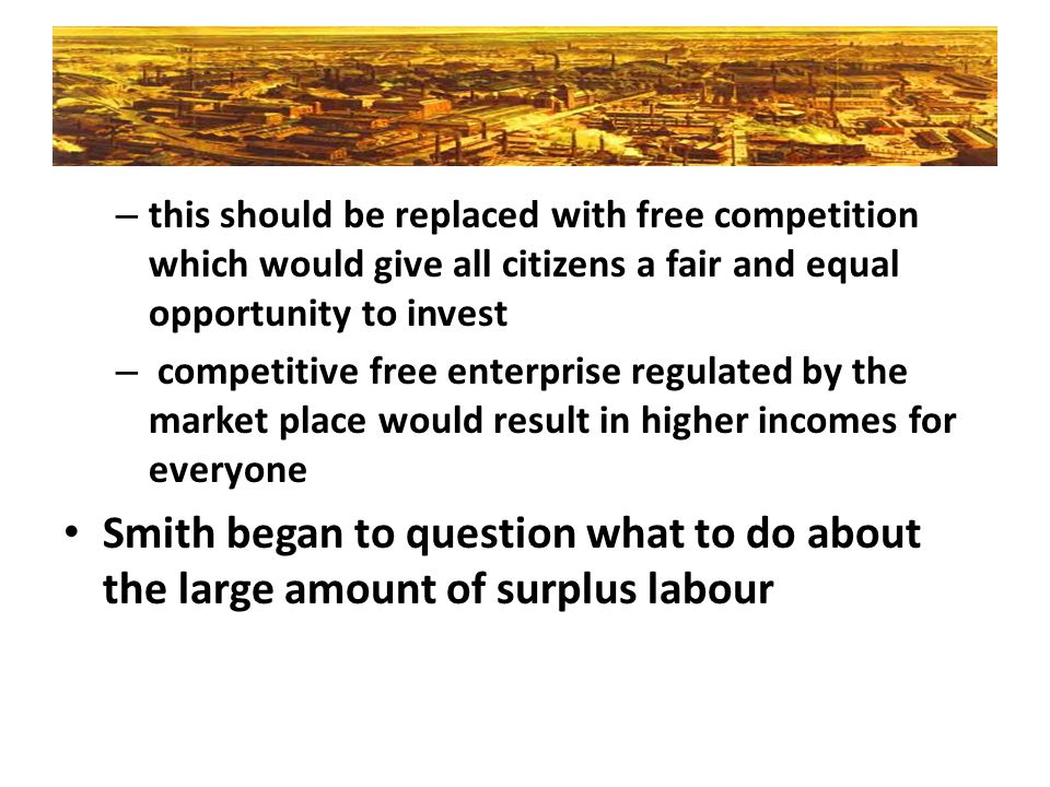 this should be replaced with free competition which would give all citizens a fair and equal opportunity to invest