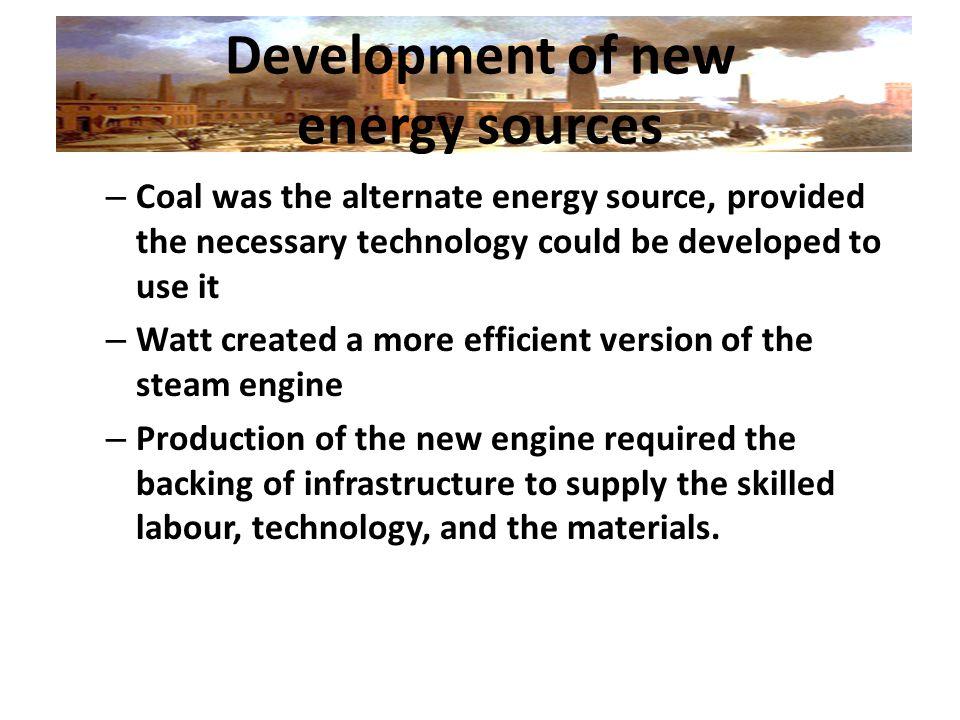 Development of new energy sources