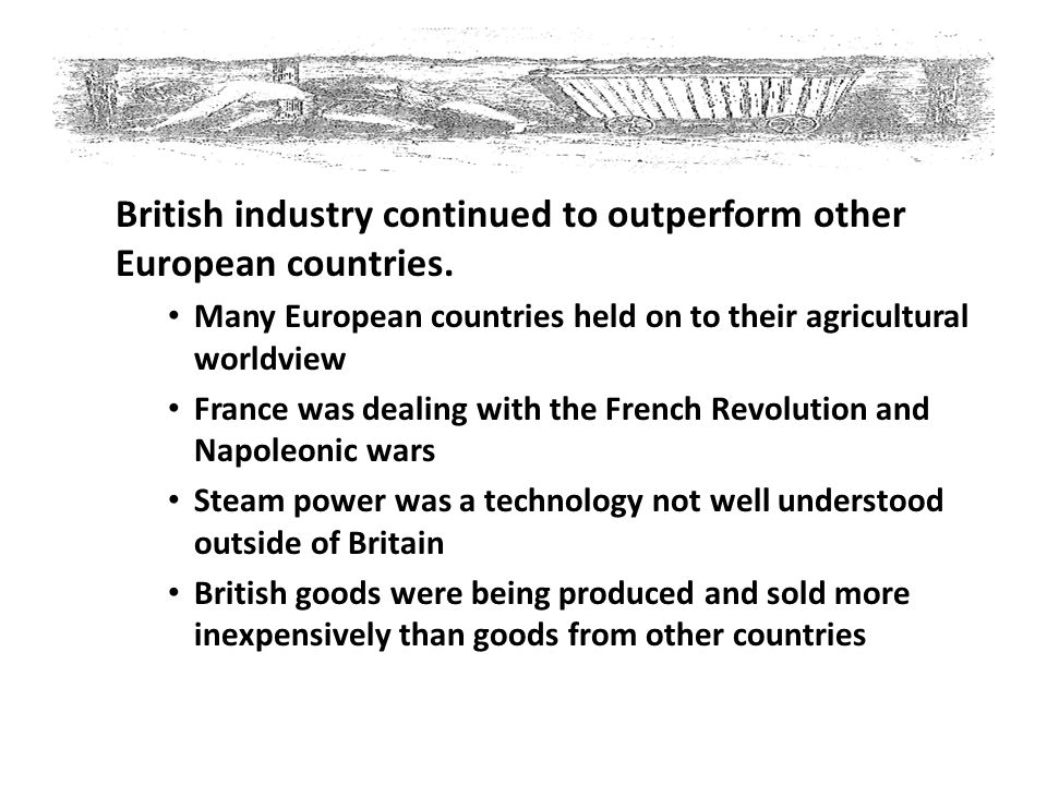 British industry continued to outperform other European countries.