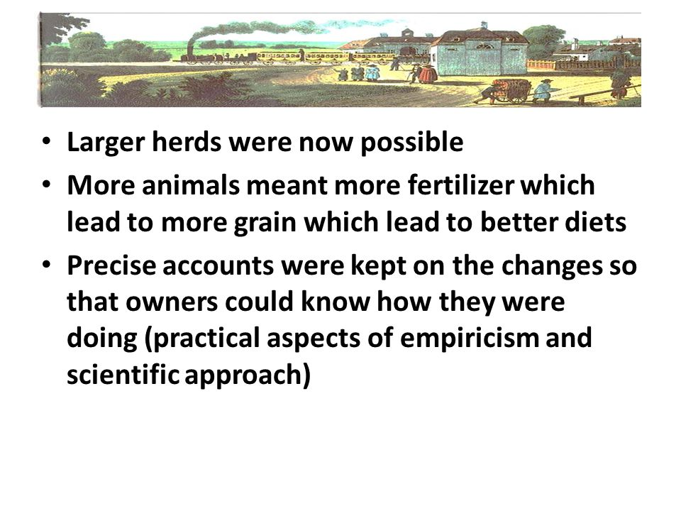 Larger herds were now possible