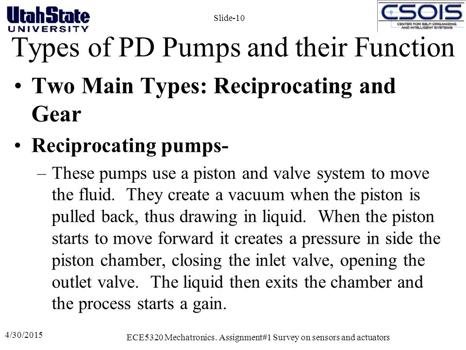 Types of PD Pumps and their Function