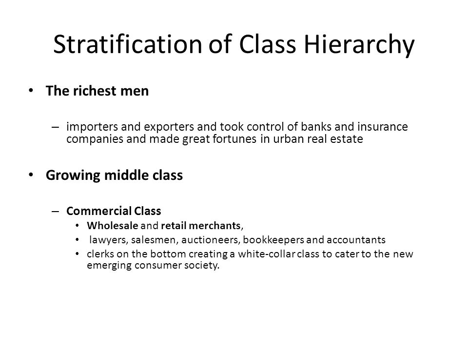 Stratification of Class Hierarchy