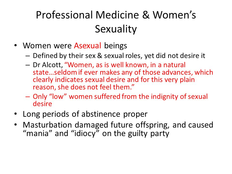 Professional Medicine & Women's Sexuality