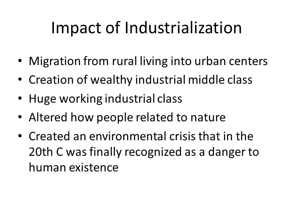 industrialization impact