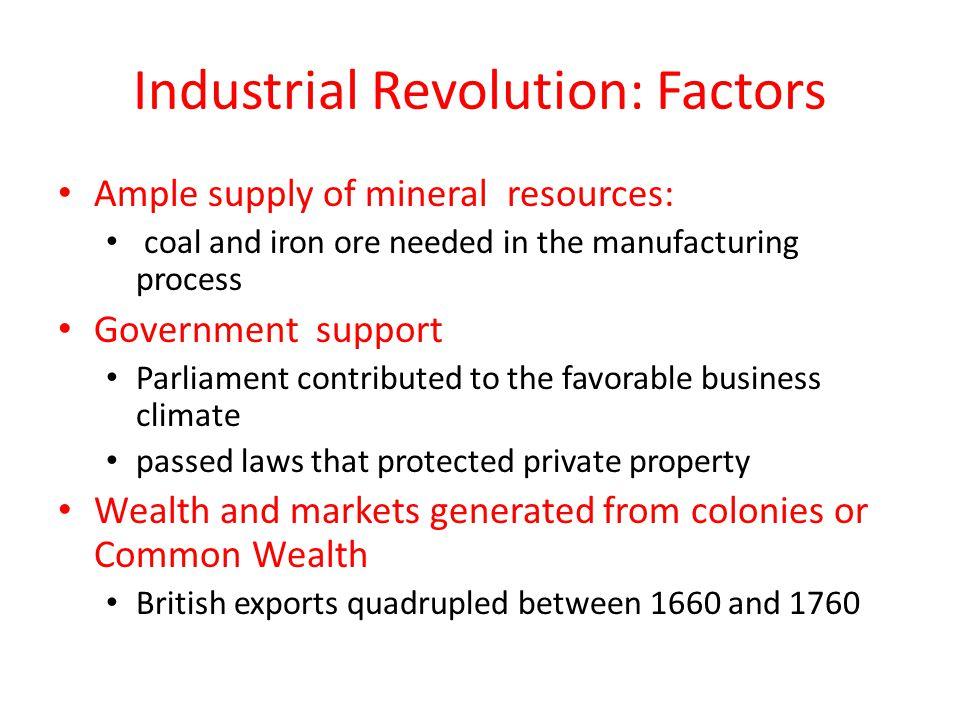 Industrial Revolution: Factors