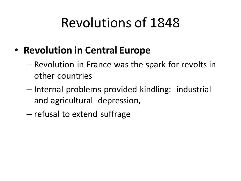 Revolutions of 1848 Revolution in Central Europe