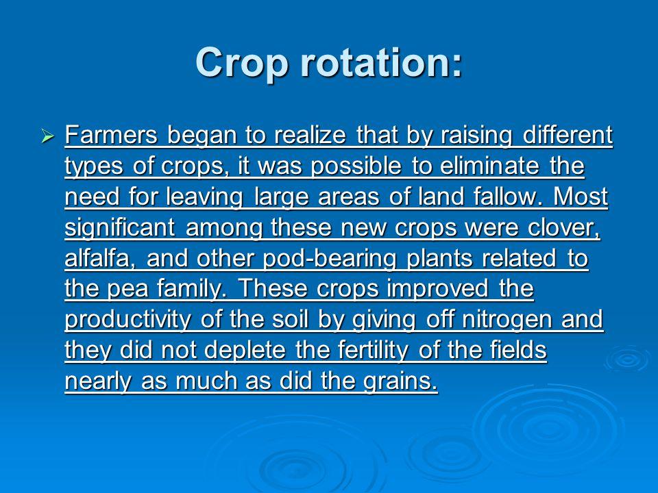 Crop rotation: