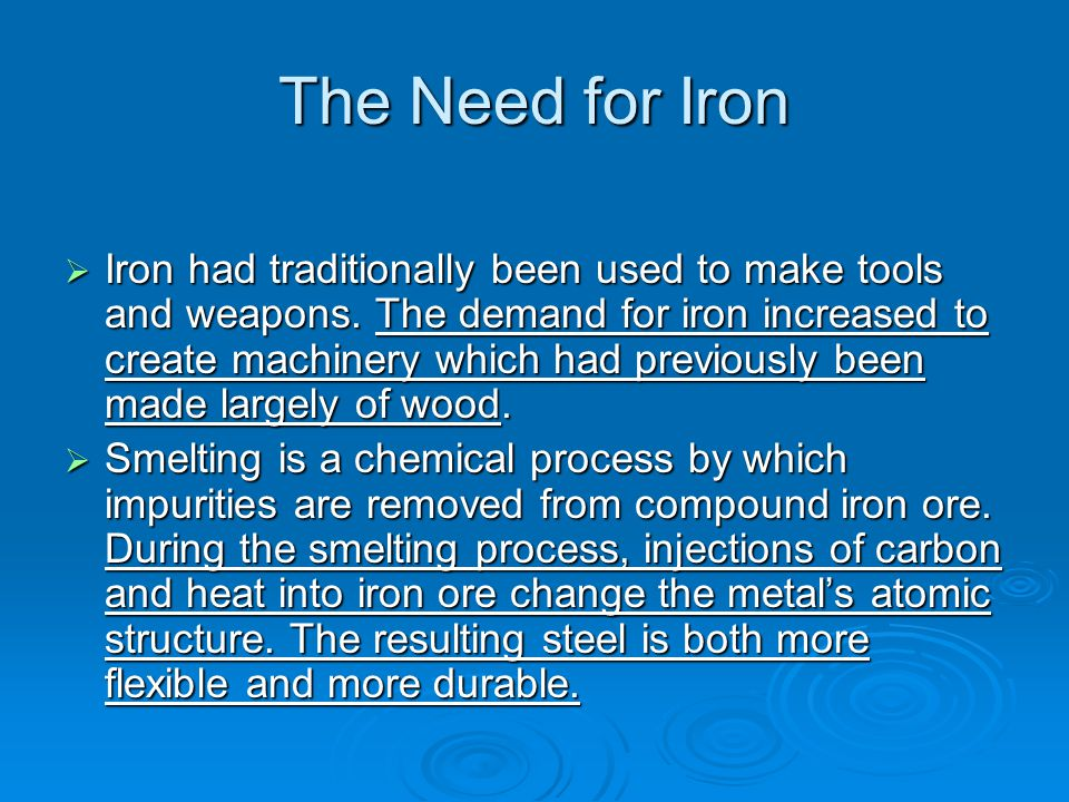 The Need for Iron