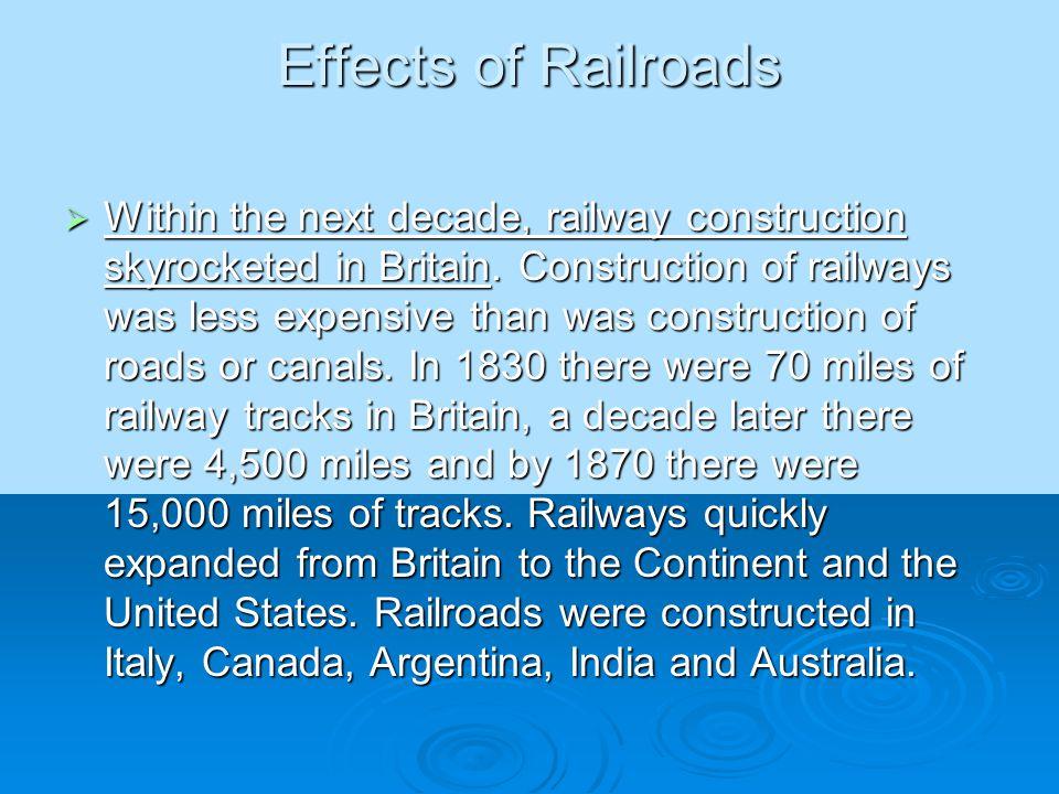 Effects of Railroads