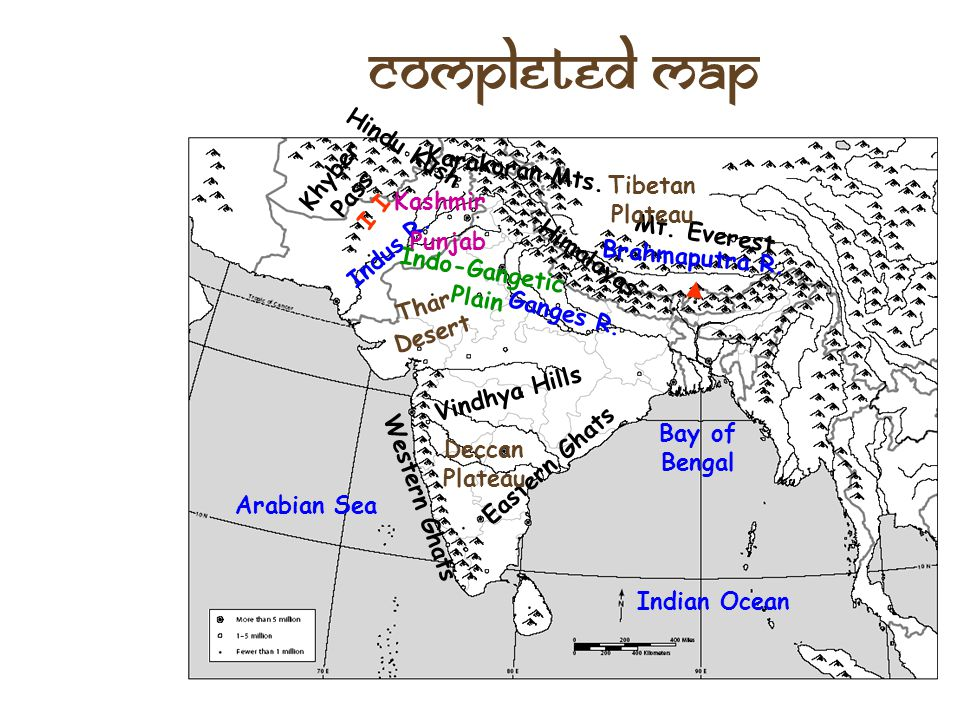 Completed Map Hindu Kush Khyber Pass I I Karakoran Mts.