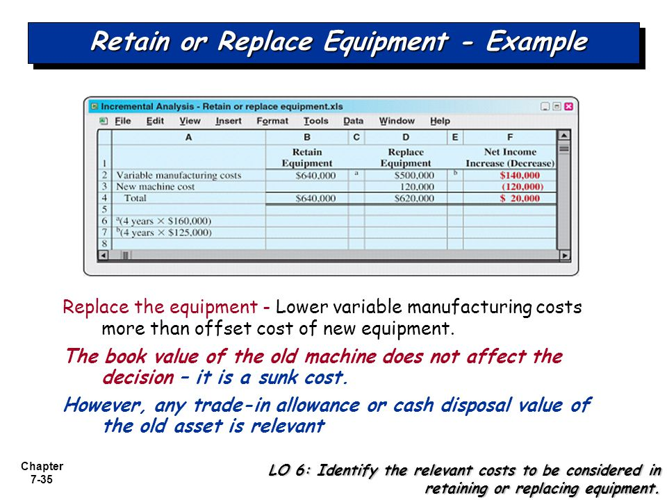 Retain or Replace Equipment - Example
