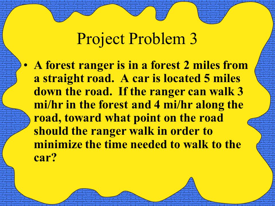 Project Problem 3