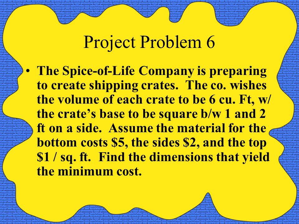 Project Problem 6