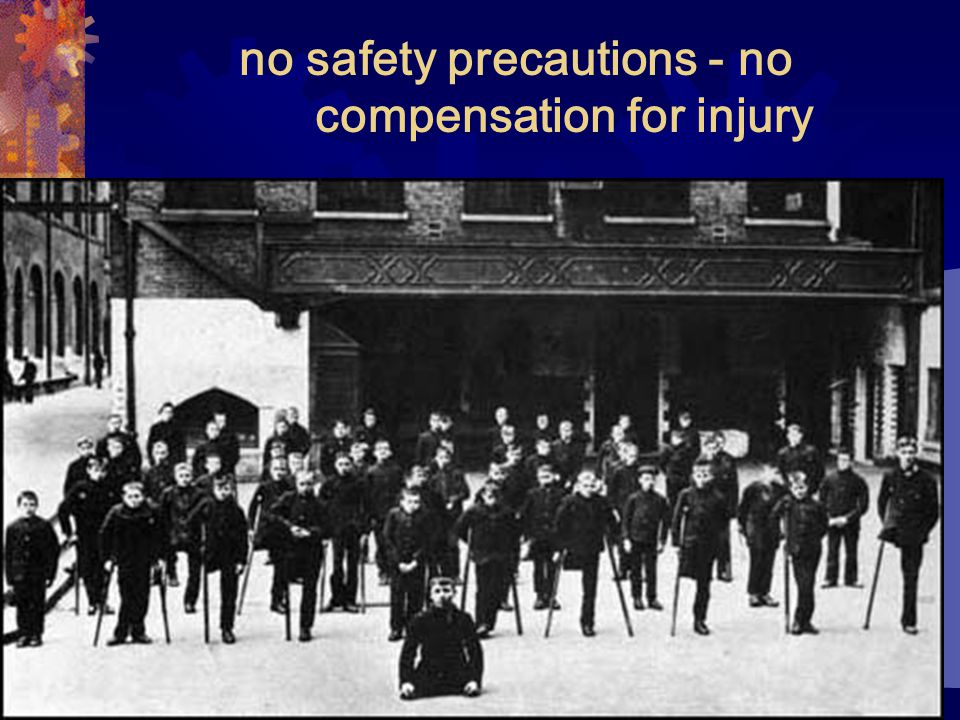 no safety precautions - no compensation for injury