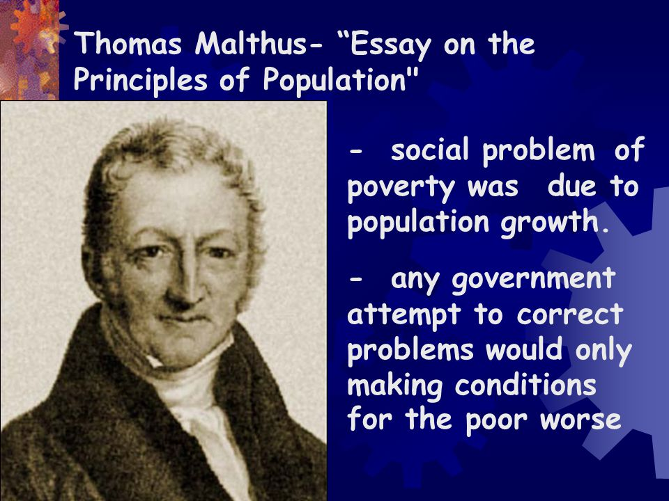 Thomas Malthus- Essay on the Principles of Population