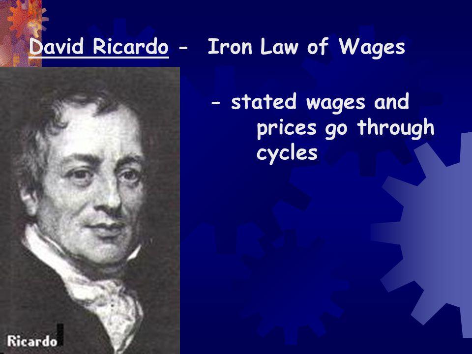 David Ricardo - Iron Law of Wages
