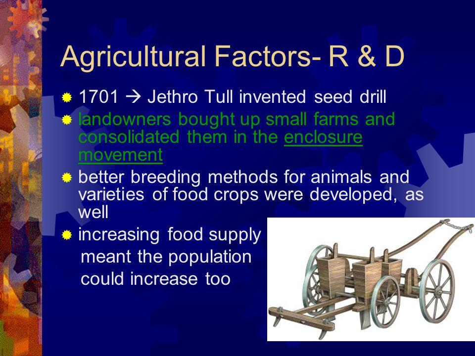 Agricultural Factors- R & D
