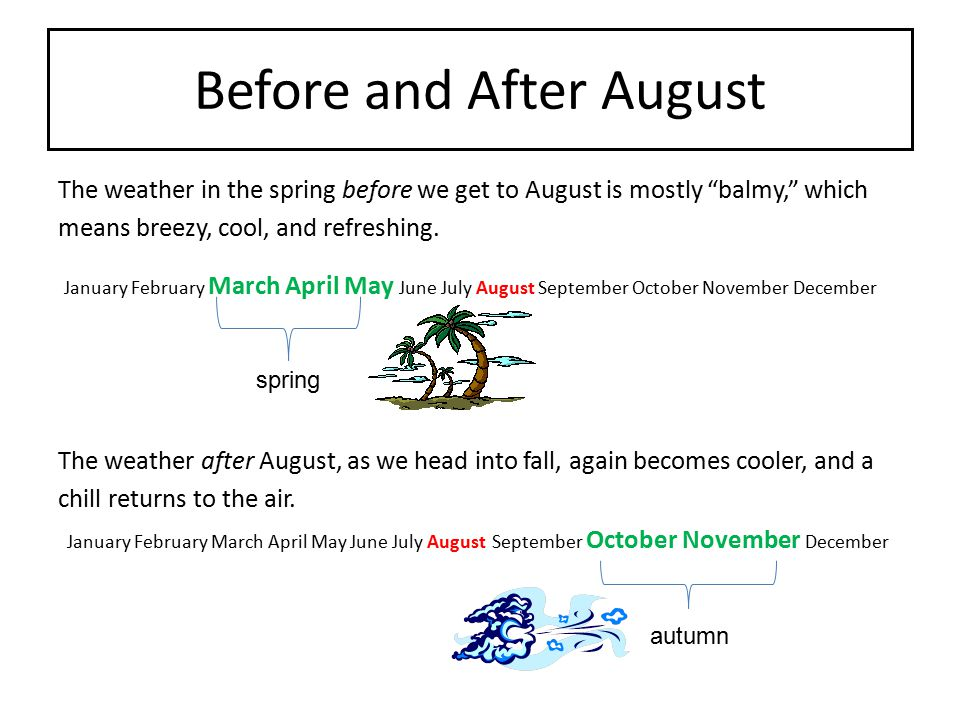 Before and After August