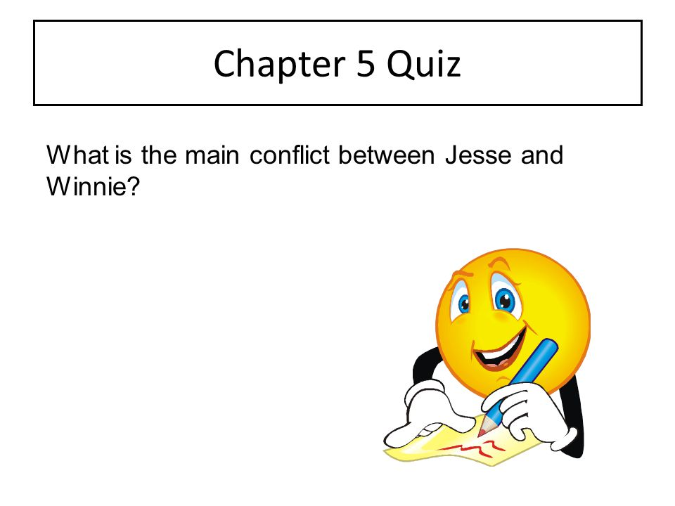 Chapter 5 Quiz What is the main conflict between Jesse and Winnie