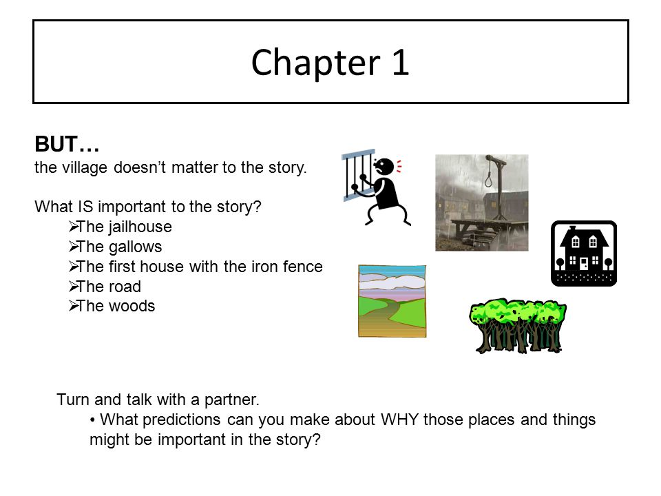 Chapter 1 BUT… the village doesn't matter to the story.