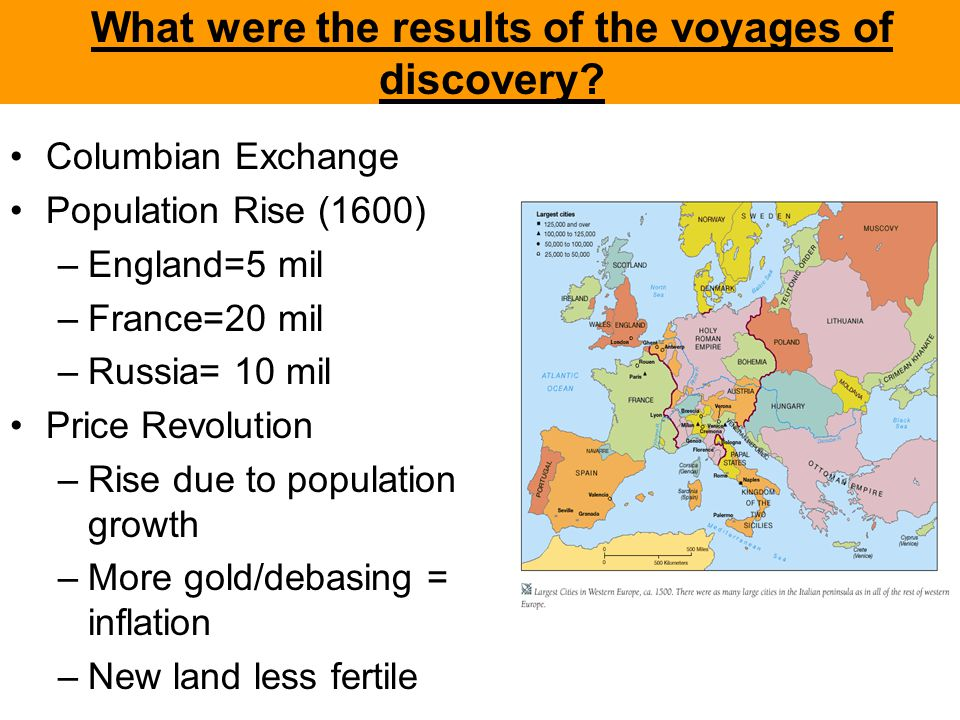 What were the results of the voyages of discovery