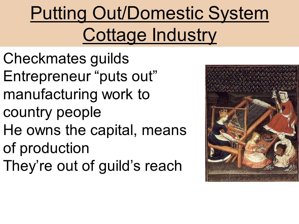 Putting Out/Domestic System Cottage Industry