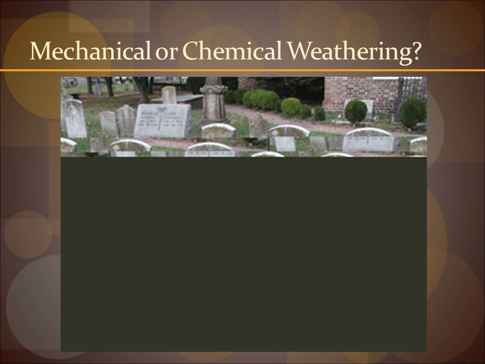 Mechanical or Chemical Weathering