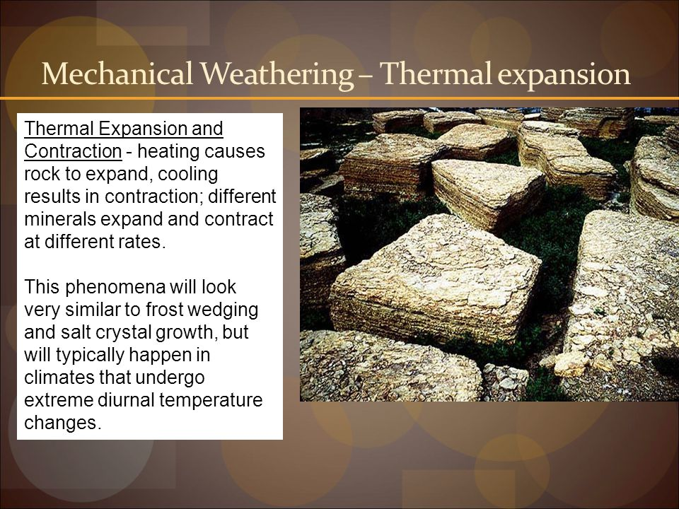 Mechanical Weathering – Thermal expansion